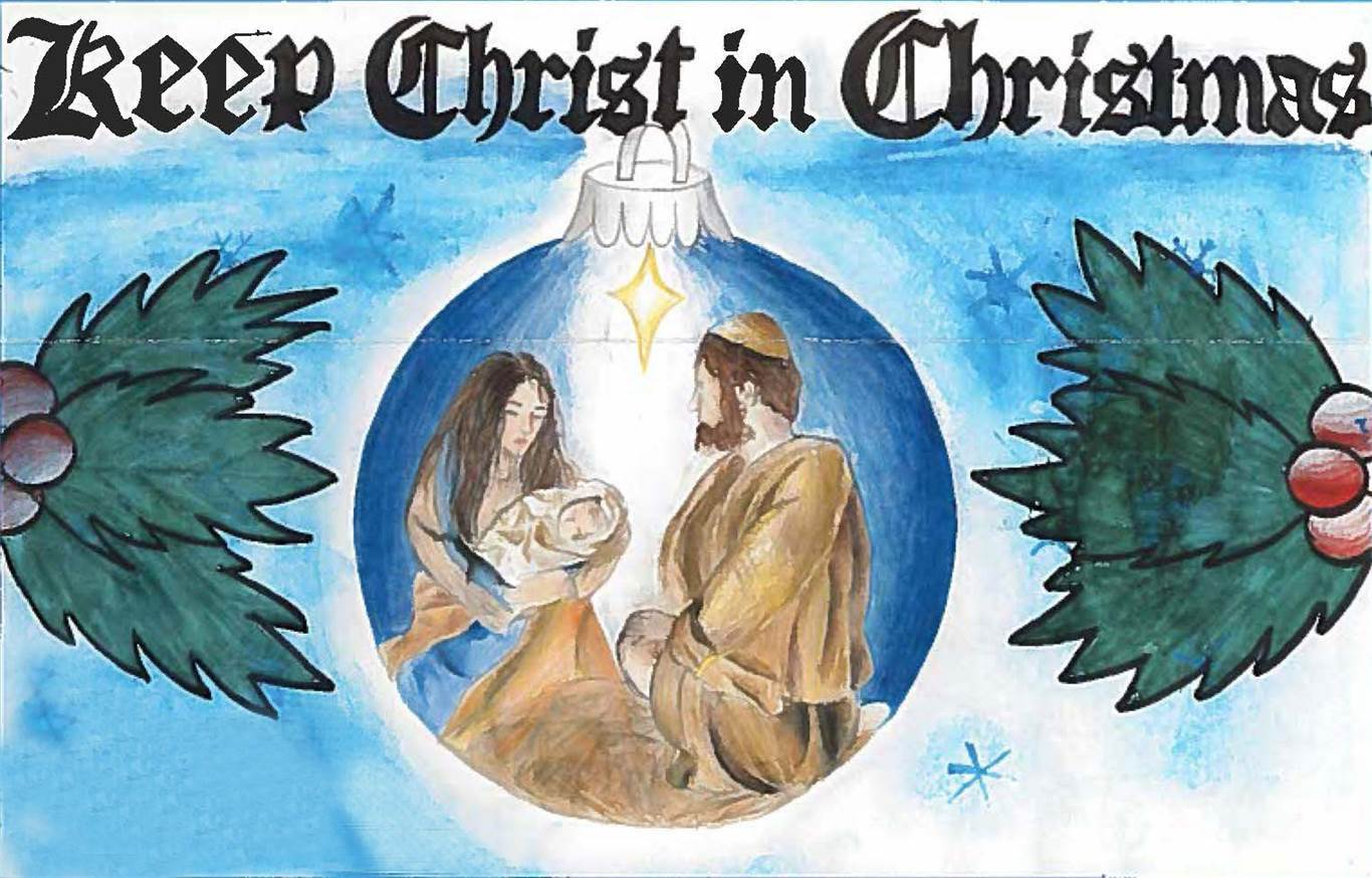 "Keep Christ in Christmas"" poster contest"
