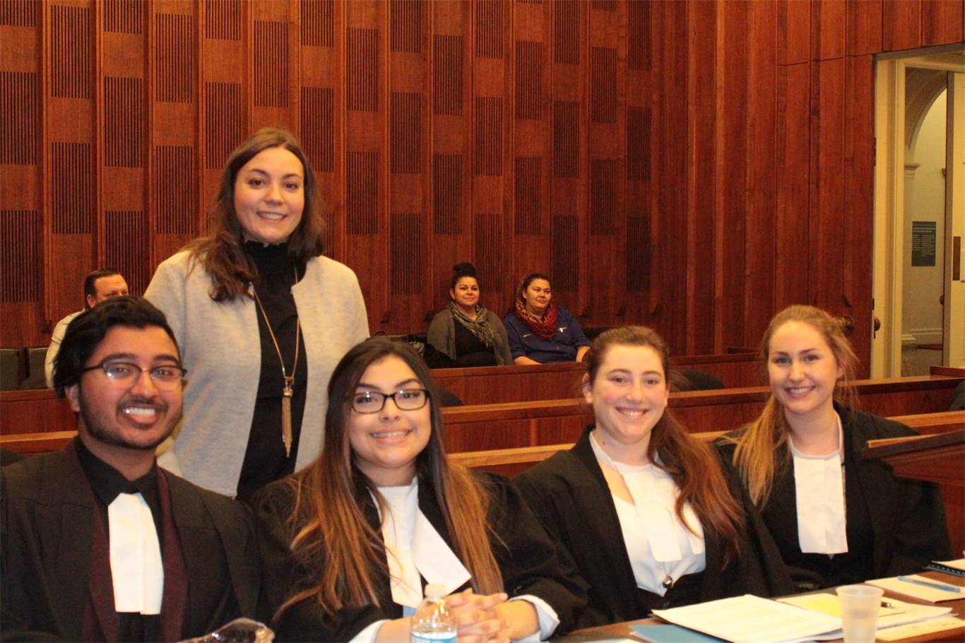 Law students with teacher, Andrea Leone.