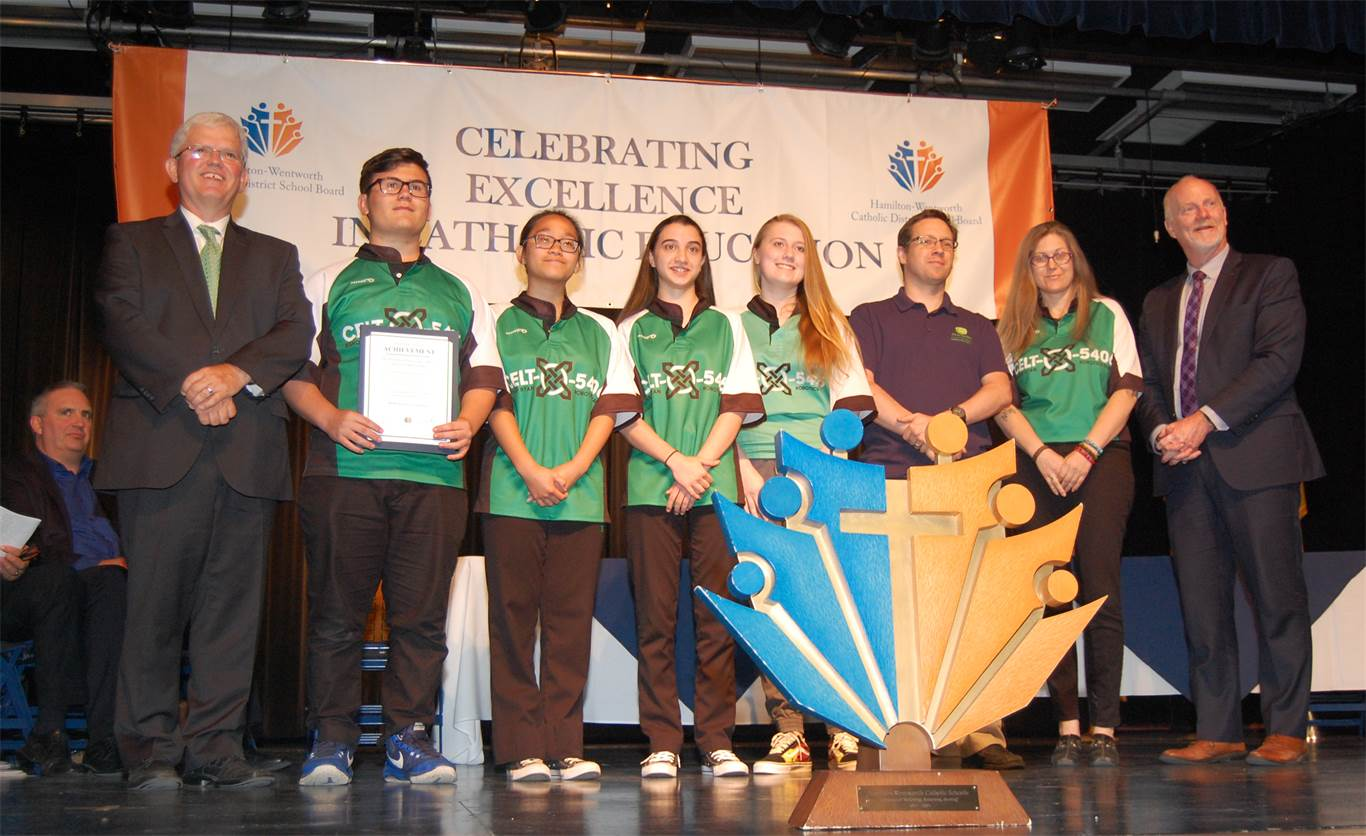 Bishop Ryan's Celt-X Robotics Team was one of 3 HWCDSB secondary robotics teams that advanced to the World Robotics Championship in Detroit in April. Celt-X is not only a District Championship Winner from the Ontario Provincial Championships, but ranked 2nd at the Worlds.