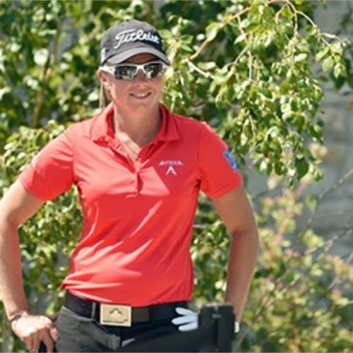 Hamilton golfer Alena Sharp will be on the Canadian team that competes at the Summer Olympics in Rio de Janeiro next month. Photo by David Bebee, Waterloo Region Record.