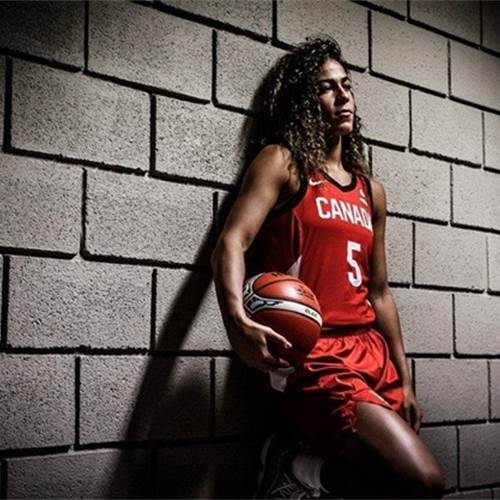 Kia Nurse advises young female athletes to surround themselves with people also who have high aspirations. - FIBA